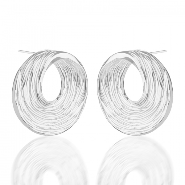 Warp Ocean Stud Earrings