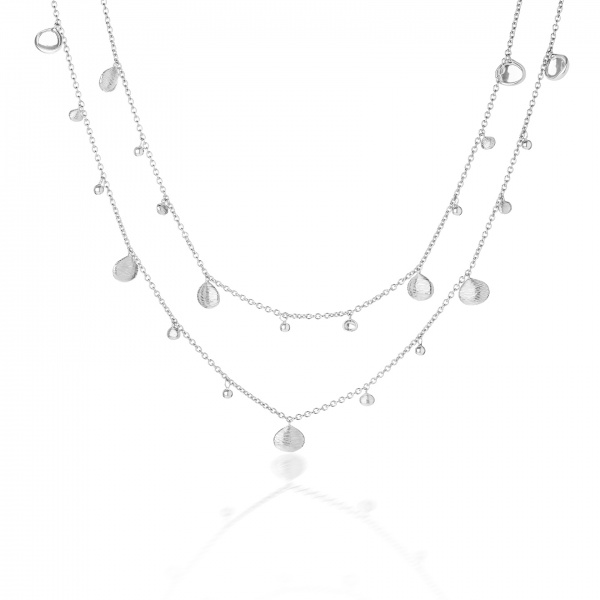 Cala Plain Long Charm Necklace