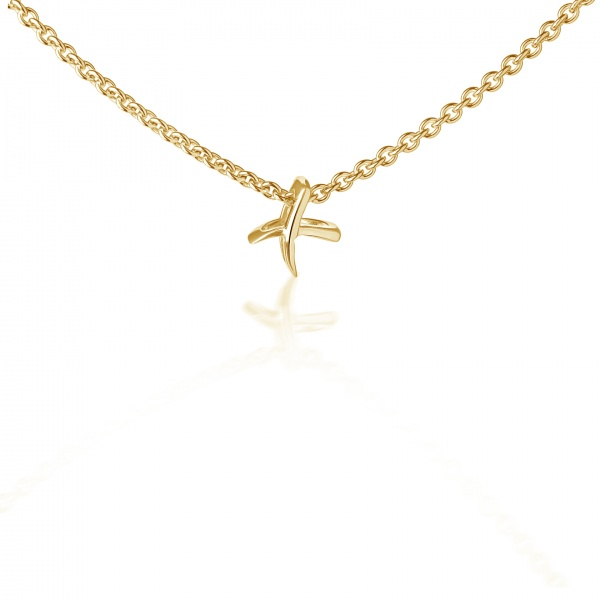 Molto Kiss Mini Pendant Yellow Gold Overlay