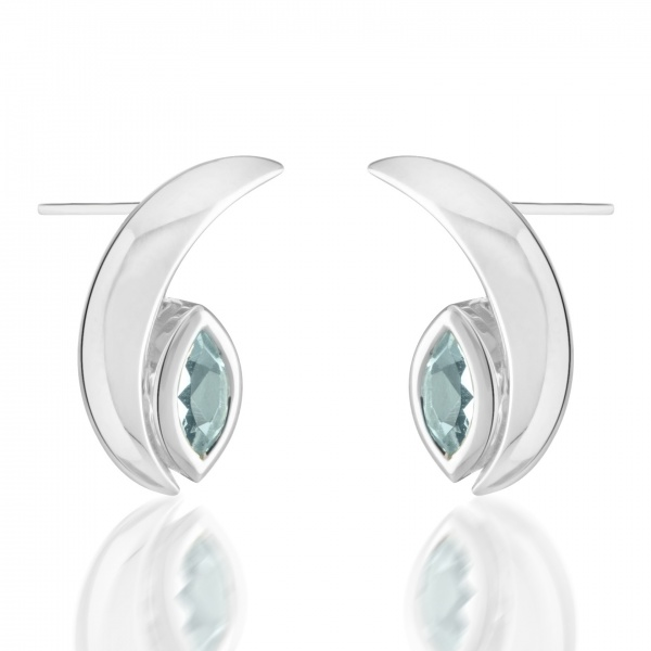 Surf Moon Topaz Earrings