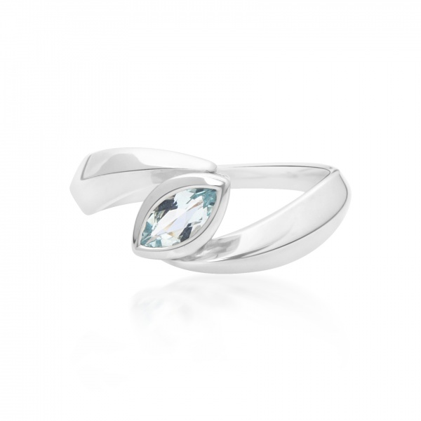 Surf Spike Topaz Ring L
