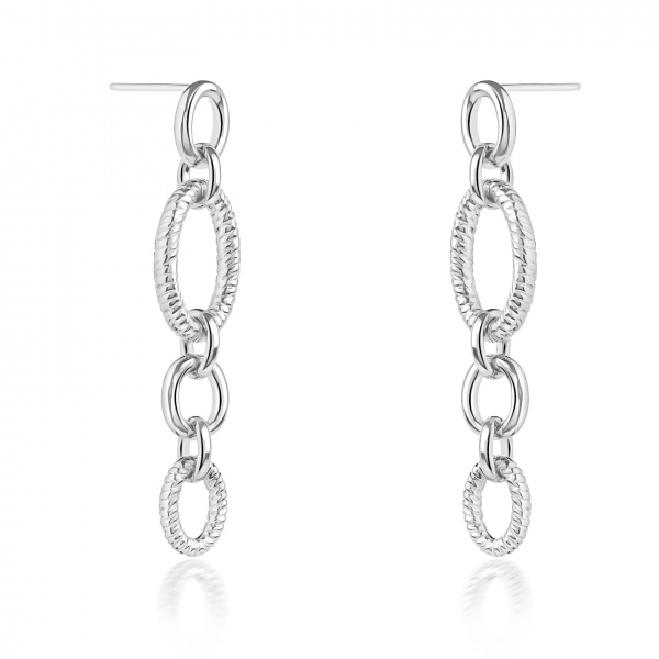 Ocean Link Long Drop Earrings