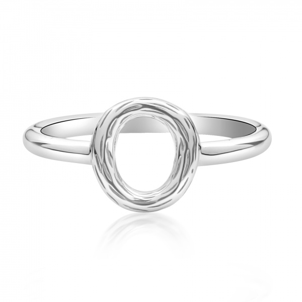 Ocean Textured Loop Ring Size N