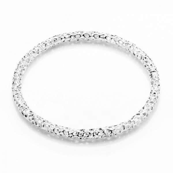 Allegro Skinny Silver Bangle XL
