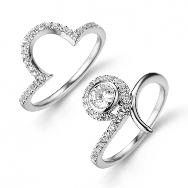 Snowdrop Engagement and Wedding Ring Set