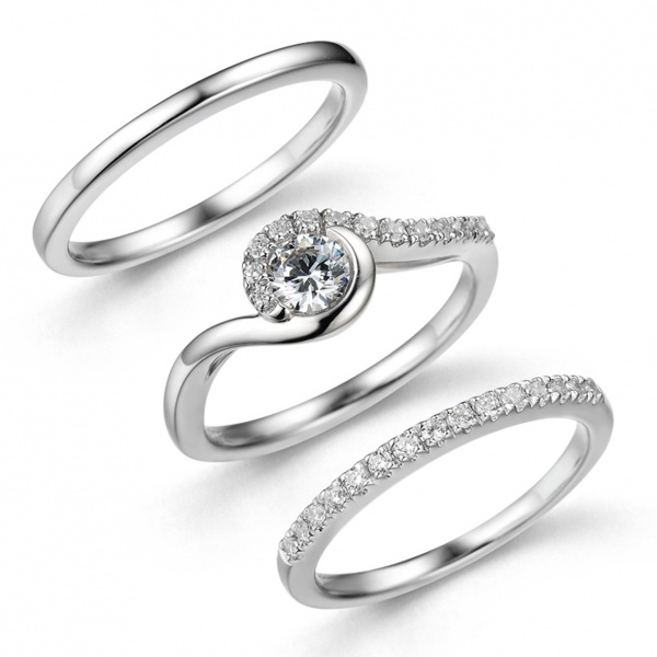 Snowdrop Trilogy Ring Set