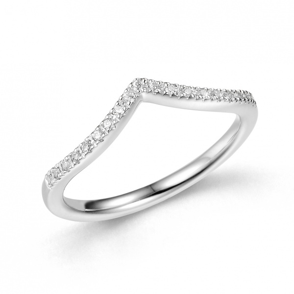 Wishbone Half Eternity Ring