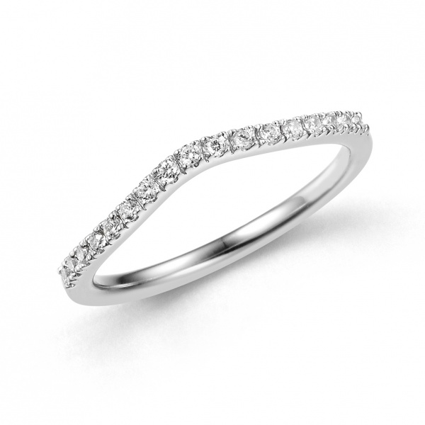 Gentle Wishbone Half Eternity Ring
