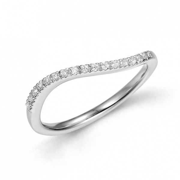Curve Half Eternity Ring