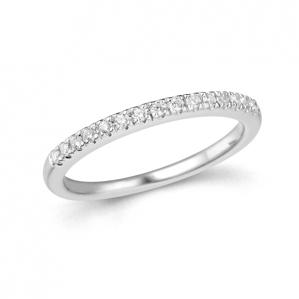 Single Row Half Eternity Ring