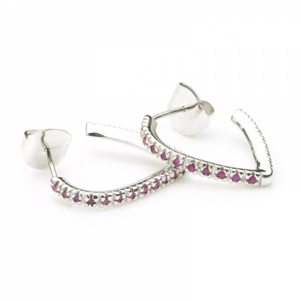 Tesoro Rose Ruby Pave Earrings