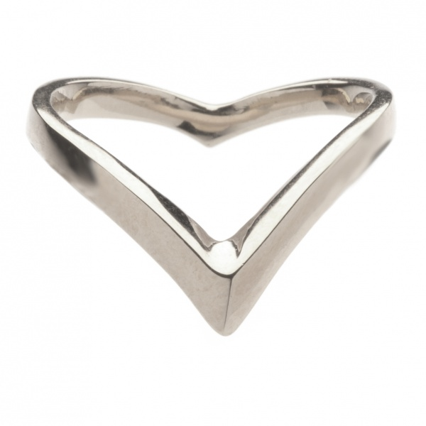 Plain Wishbone Ring Silver