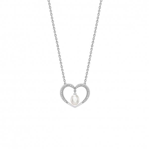 Snowdrop Pearl Heart Pendant