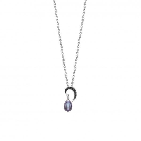 Snowdrop Black Pearl Pendant