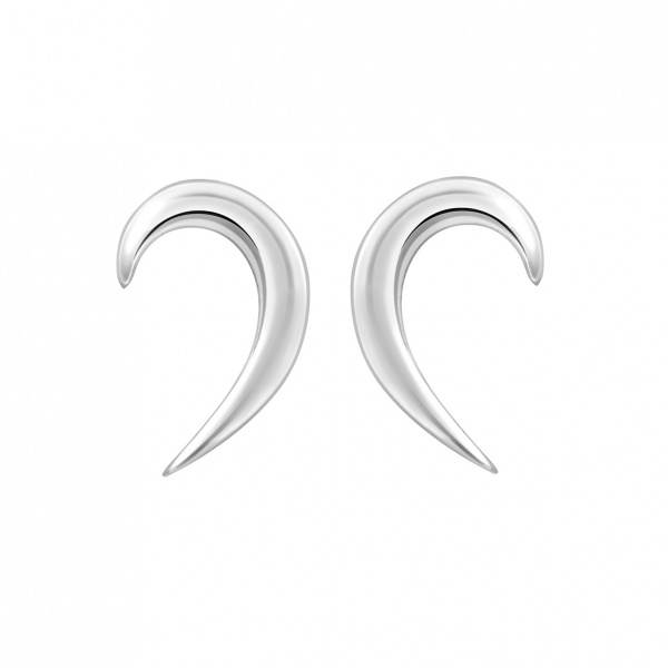 Snowdrop Plain Earrings Silver