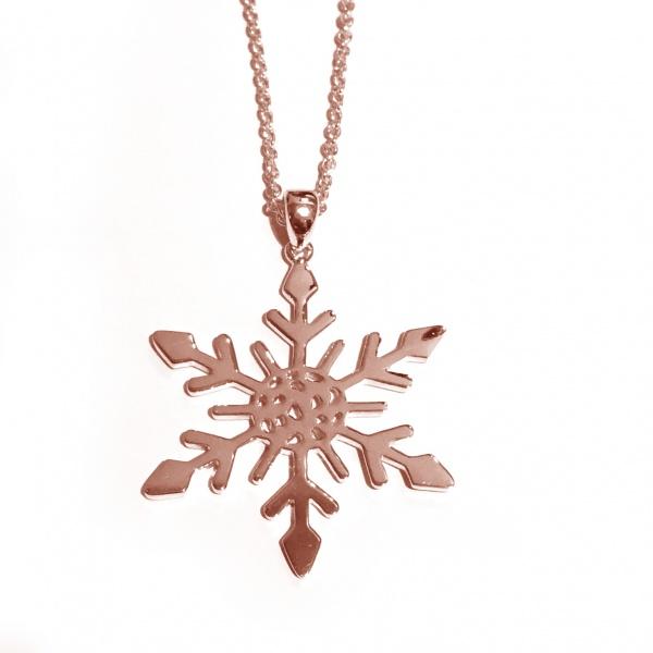 Snowflake Large Pendant Rose