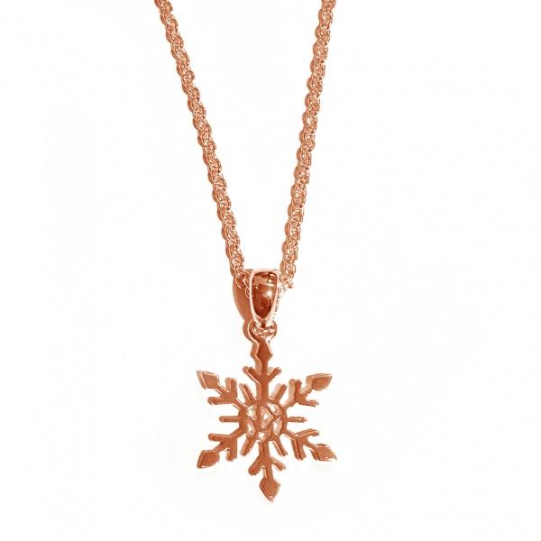 Snowflake Small Pendant rose