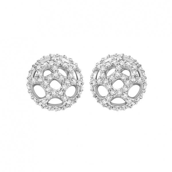 Satellite Stud Earrings Silver
