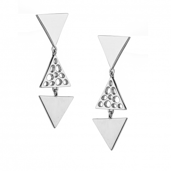 Trinity Triple Drop Earrings