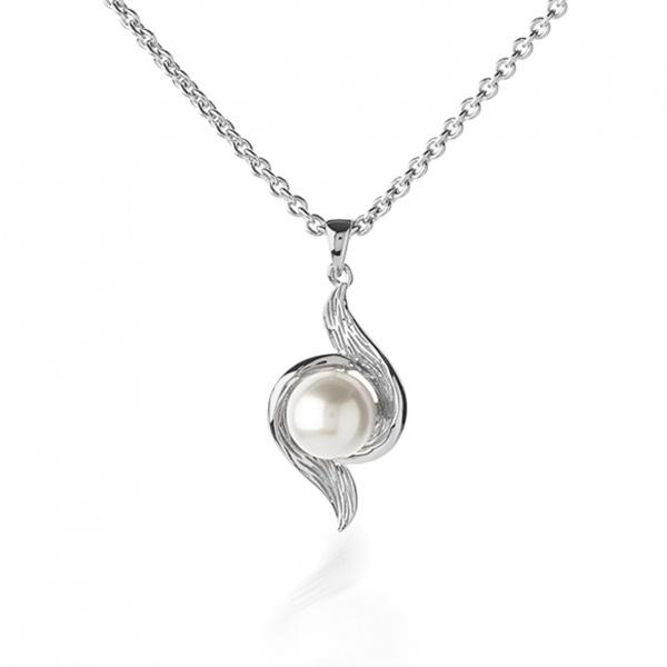 Warp Ocean Pearl Double Swirl Pendant