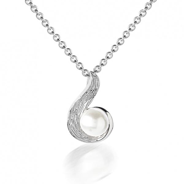 Warp Ocean Pearl Swirl Pendant