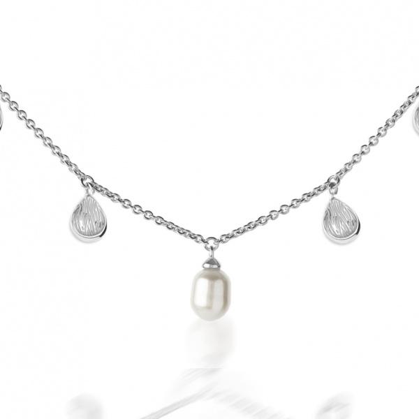 Warp Ocean Pearl Necklace