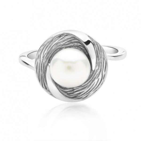 Warp Ocean Pearl Round Ring N