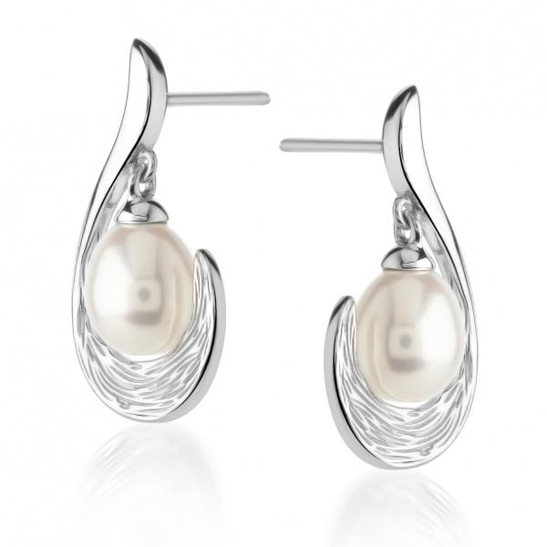 Warp Ocean Pearl Dangly Pearl earrings