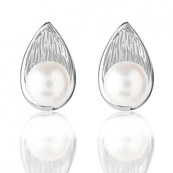 Warp Ocean Pearl Teardrop earrings