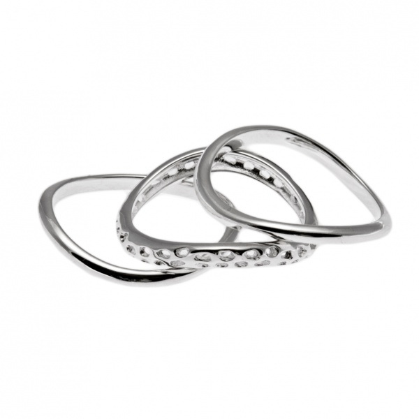 Wave Trilogy Rings